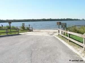 boat ramp at tidal side