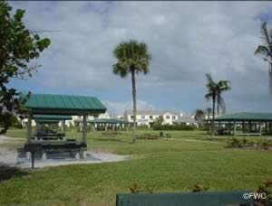 picnic near the water at jaycee park in fort pierce florida