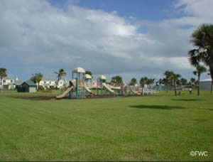 playground for the kids at jaycee park in fort pierce florida