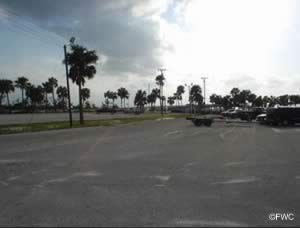 parking at the north causeway island park and boat ramp port st lucie florida