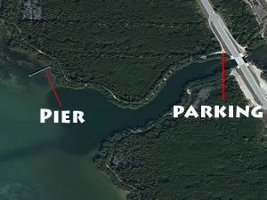 blind creek pier near power plant in st lucie county