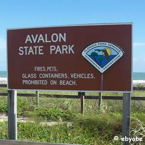 avalon state park sign