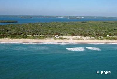 aerial view of avalon state park fl