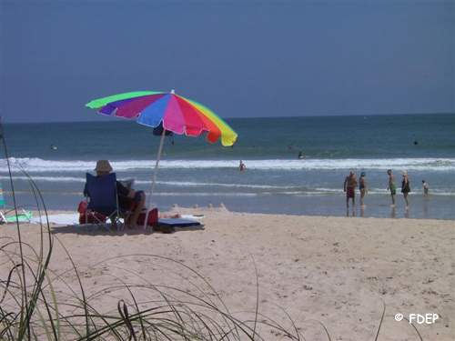 relax on the beach at fort pierce inlet