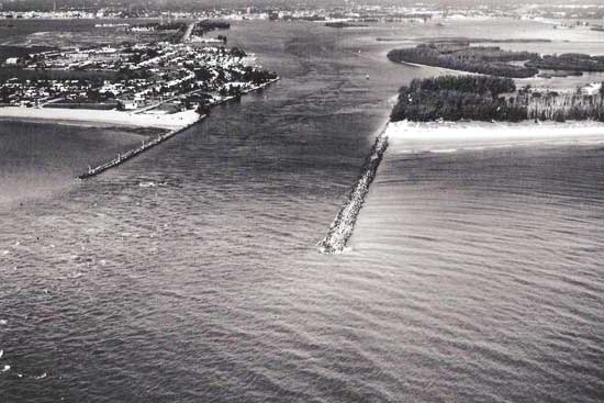 early photo of fort pierce inlet