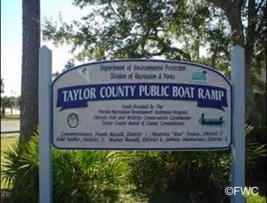 Taylor County Florida public boat ramp at keaton beach