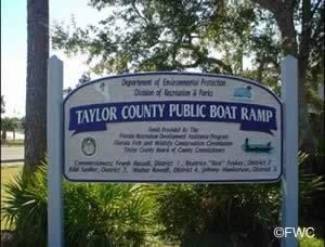 Taylor County Florida public boat ramp at keaton beach