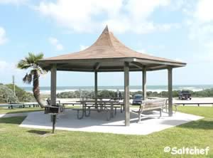 pavilion on small rise at michael crotty bicentennial park