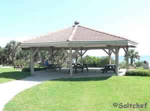 gazebo pavilion at birthplace of speed park