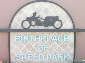 sign at birthplace of speed park ormond beach