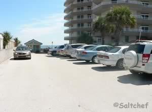 parking lot at dahlia ave park daytona beach shores
