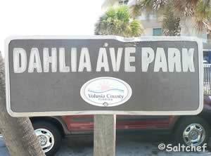 sign at dahlia avenue beach park daytona beach shores