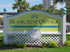 sign at frank rendon park