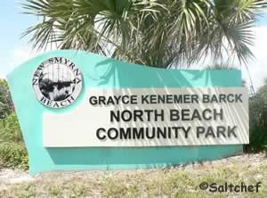 sign at grayce kenemer barck beach park