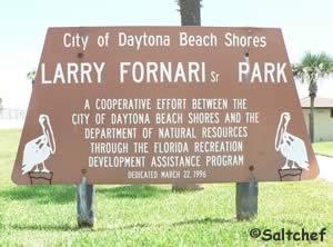 larry fornari park sign daytona beach shores florida