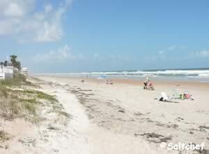 beach at tom renick park ormond by the sea