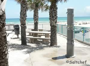picnic tables and rinsing showers at van avenue park daytona beach shores
