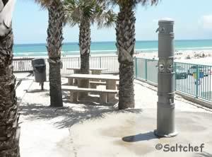 picnic tables and rinsing showers at van avenue park daytona beach shores