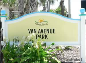 sign at entrance to van avenue park