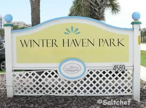 winter haven beach park sign