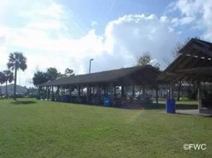 picnic pavilions at bethune point park and boat ramp in daytona beach fl