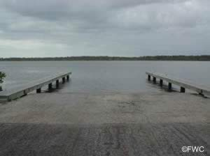 boat ramp at cape canaveral national seashore near new smyrna beach
