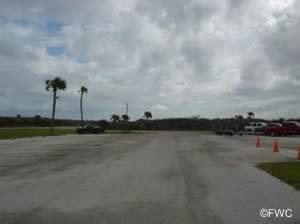 parking at the cape canaveral national seashore boat ramp