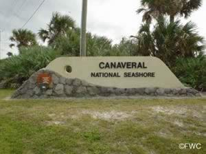 national seashore at canaveral sign