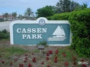 sign at cassen park ormond beach fl