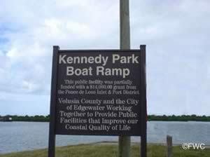 sign at george kennedy park edgewater florida