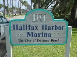sign at halifax harbor marina boat ramp