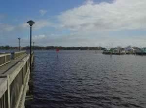 water view at halifax harbor marina boat ramp