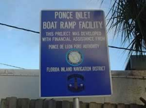 sign at lighthouse point park boat ramp