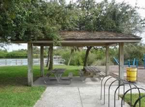 picnic pavilion at north causeway west boat ramp new smyrna