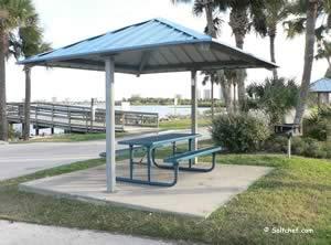 picnic area at port orange causeway park daytona