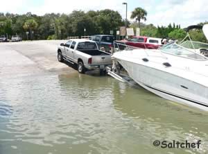 boat ramp at riverbreeze park in oak hill fl 32759