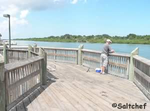 fishing pier on indian river oak hill