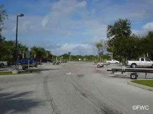 boat trailer parking at river breeze boat ramp oak hill florida