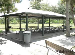 reservable large pavilion at riverbreeze park