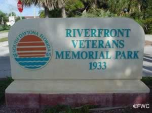 sign at riverfront veterans