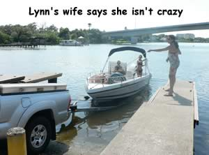 lynn's wife says she isn't crazy
