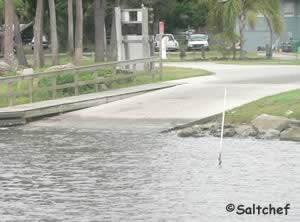 boat ramp into halifax river in holly hill fl