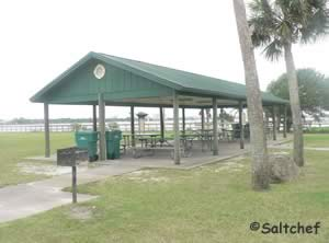 pavilion near boat ramp at sunrise park  north holly hill