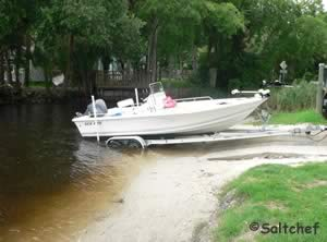 small boat ramp at tomoka estates