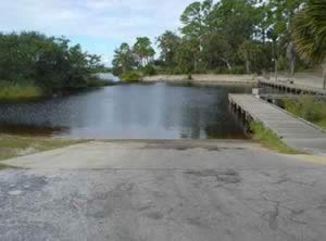 boat ramp at tomoka state park florida