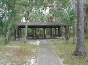 pavilion at tomoka state park