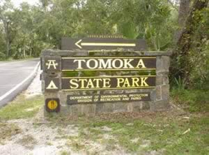 tomoka state park entrance sign