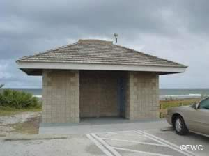 restrooms at turtlemound primitive ramp cape canaveral national seashore