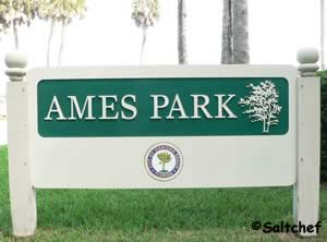 sign at ames park ormond beach