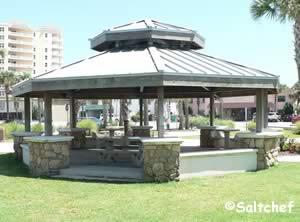 picnic in the shade near beach access at andrinoplous park daytona beach shores